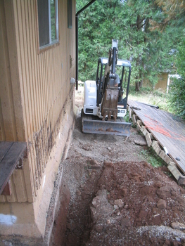 Excavating For Install